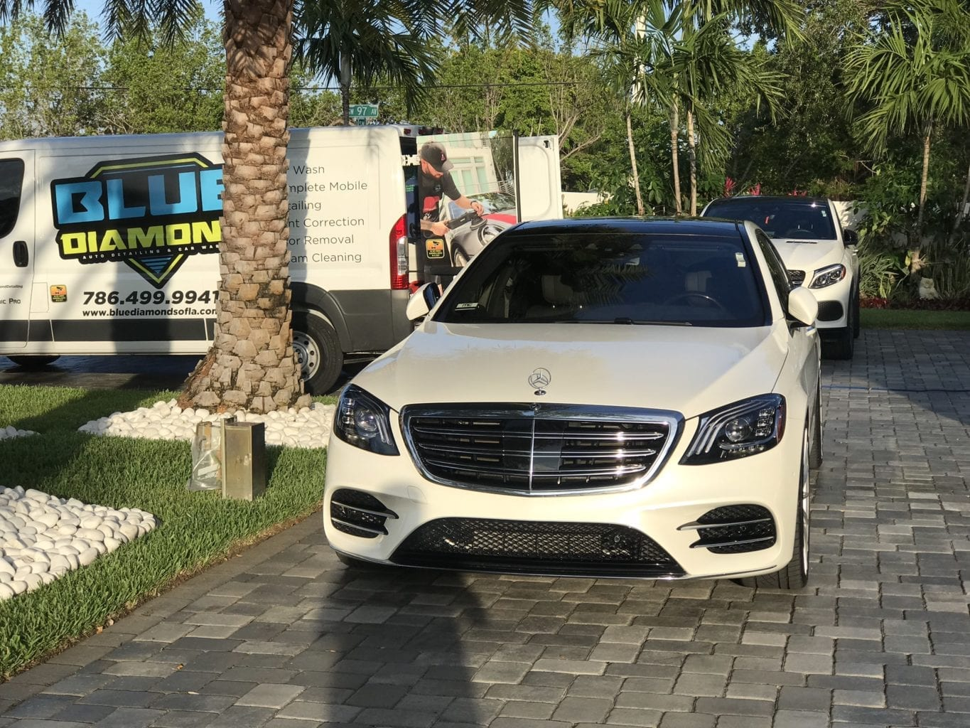 White Mercedes Special