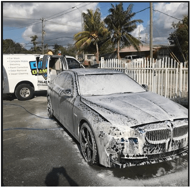 interior and exterior car wash
